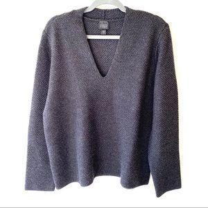 Eileen Fisher 100% Merino Wool V-Neck Sweater
